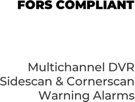 Sidescan and Cornerscan vehicle CCTV systems